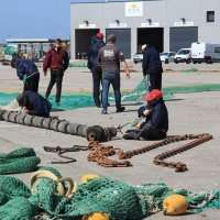 Fishing Nets In Dock